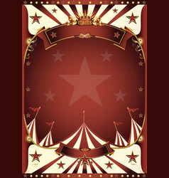 red vintage circus background vector image