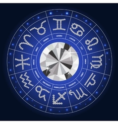 Set of Symbol Zodiac Sign Diamond vector image