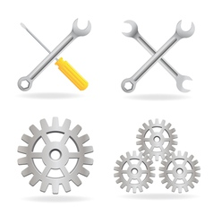 Set tool icons vector