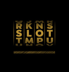 slot machine style font vector image