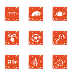 sport website icons set grunge style vector image