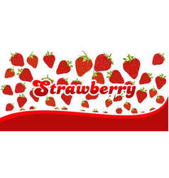 strawberry pattern on white background with vector image