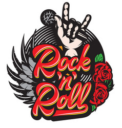 Stylish print template on the theme of rock vector