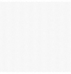 Subtle wavy line minimal white pattern background vector