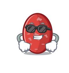 Super cool salami character cartoon style vector