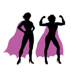 Super woman silhouettes vector