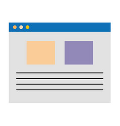 template web isolated icon vector image