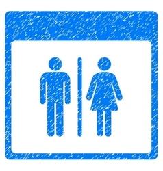 Toilet Persons Calendar Page Grainy Texture Icon vector