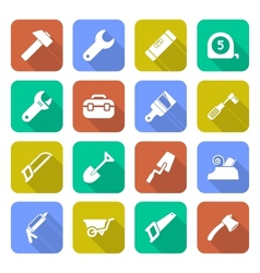 Tools Icons With Shadows vector image