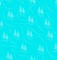 tree forest seamless pattern background blue vector image