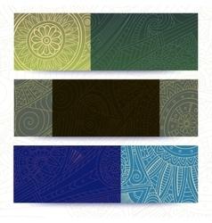 Tribal vintage ethnic banner vector image