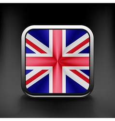 UK icon flag national travel icon country symbol vector image