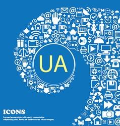 Ukraine sign icon symbol UA navigation Nice set vector