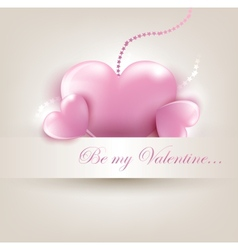 Valentins Day card with hearts vector
