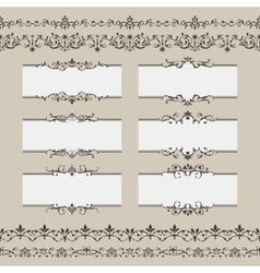 Vintage Frame Border Set vector image
