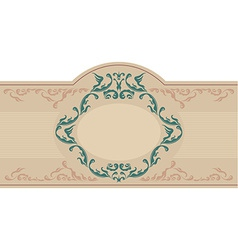 Vintage ornametal label vector