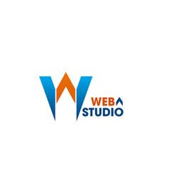 web studio emblem vector image