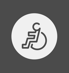 wheelchair icon sign symbol vector image