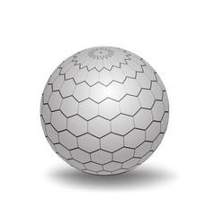 white 3d sphere vector image