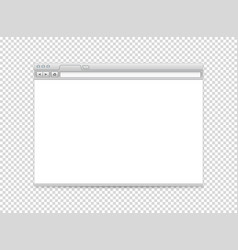 white blank website mockup object isolated on vector image