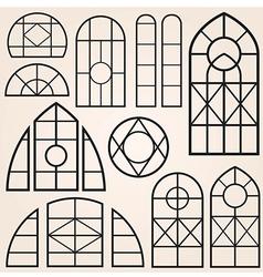 Window frames set vector
