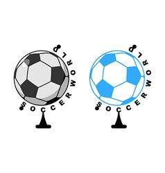 World football Globe ball game Sports accessory as vector