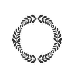 wreath crown decoration icon graphic vector image