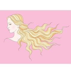 beauty girl hair vector image