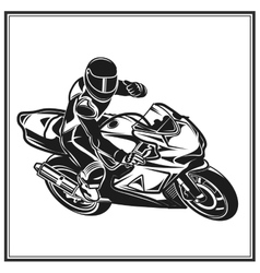 Biker fun riding a motorcycle Bikers event or vector image vector image