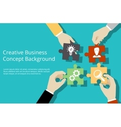 Creative business concept background vector image