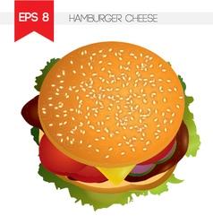Hamburger cheese vector image