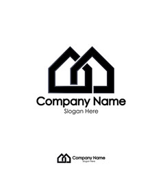 isolated black color real estate logo vector image