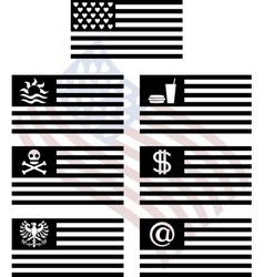 stencils of fantasy usa flags vector image vector image