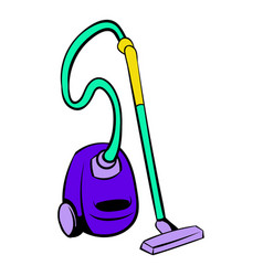 blue vacuum cleaner icon icon cartoon vector image vector image