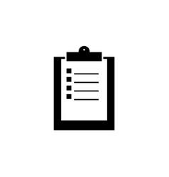 clip board work black icon vector image