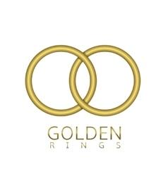 Golden rings emblem vector image
