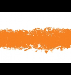 grunge strip background orange vector image