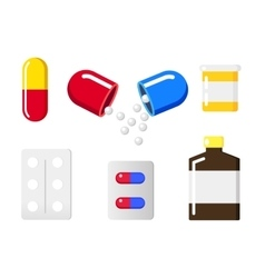 Medical pill sign icon vector image