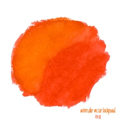 Orange and red watercolor circle vector