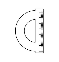 ruler utensil icon vector image vector image