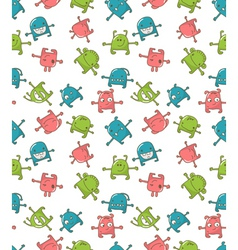 cute monsters pattern vector image vector image