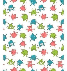 cute monsters pattern vector image
