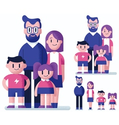 Family Flat Design vector image vector image