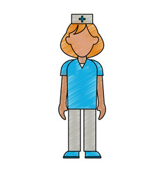 nurse woman cartoon vector image