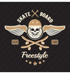Skateboarding Colored Print vector image vector image