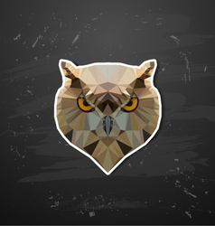 abstract triangle polygonal owl vector image vector image