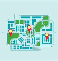 city map color vector image