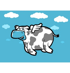 Flying Cow vector image vector image