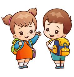 going to school vector image