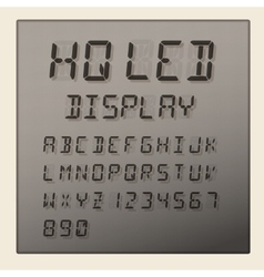 LED digital alphabet and numbers display vector image vector image